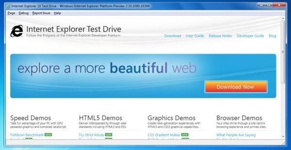 IE 10對於 HTML5新增加的支援
